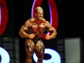 Jay Cutler on stage at the finals for the 2009 Mr. Olympia compe